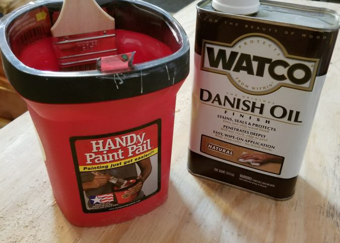 Danish Oil for sealing