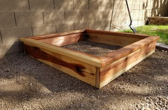 Finished garden box