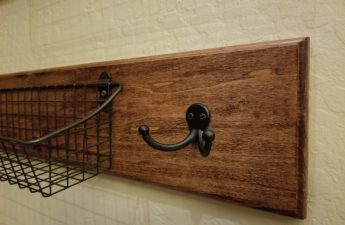 Close-up of finished kitchen wall basket