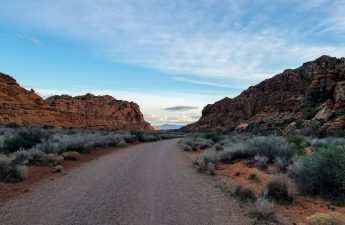 snow canyon - road less traveled