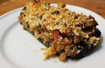 southwestern stuffed eggplant