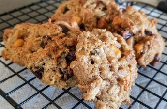 banana coconut chocolate chip cookies