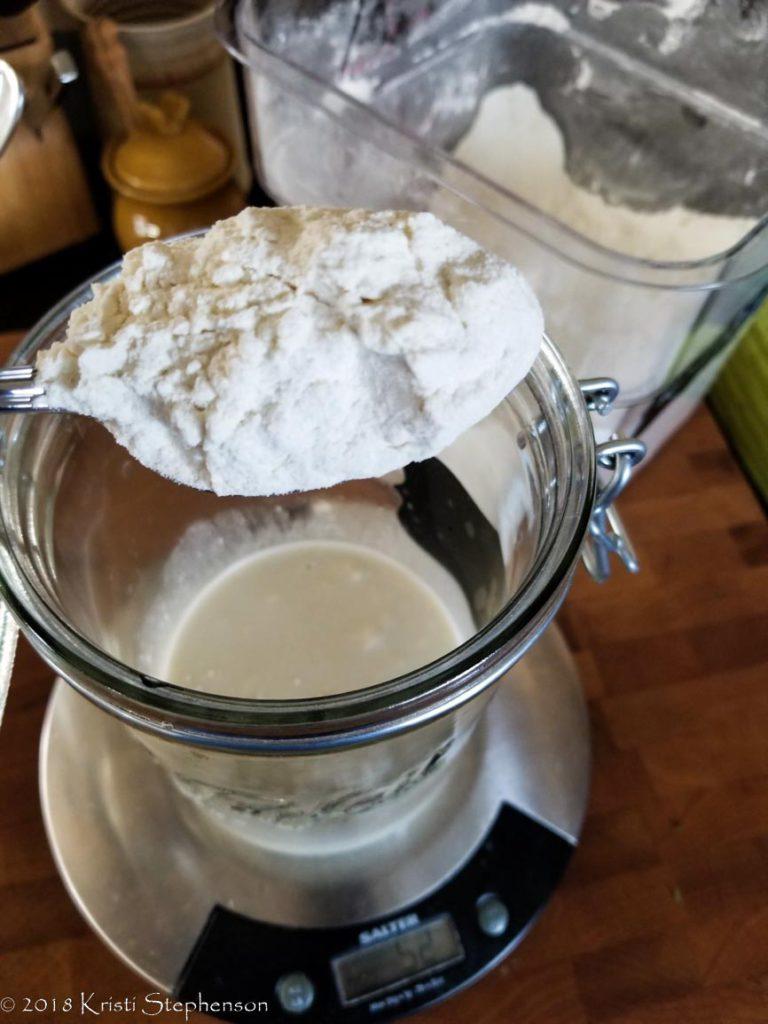 Sourdough starter - add flour