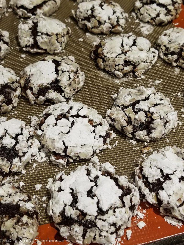 Chocolate banana pecan cookies