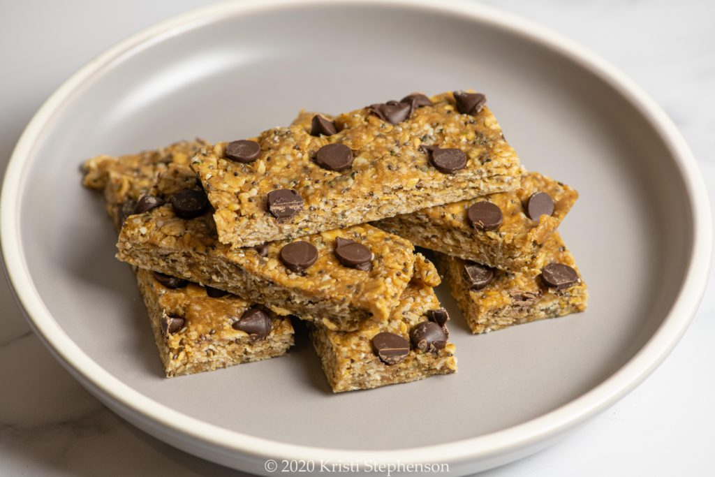 peanut butter oatmeal energy bars